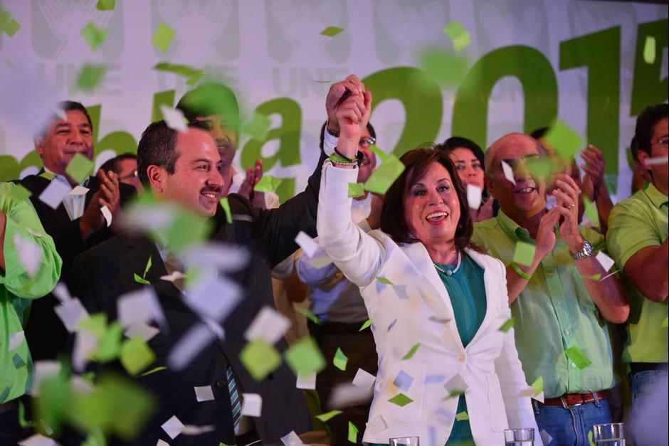 Sandra Torres y su equipo pasaron al balotaje in extremis. (Foto: Archivo/Soy502)