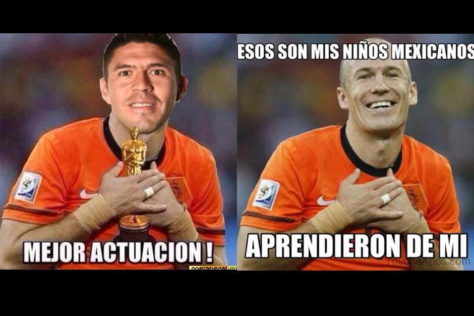 La actuación de Peralta comparada con la de Robben