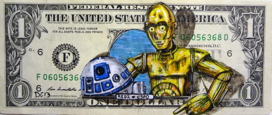 Los androides R2D2 junto a C3PO. (Foto: artes9.com)