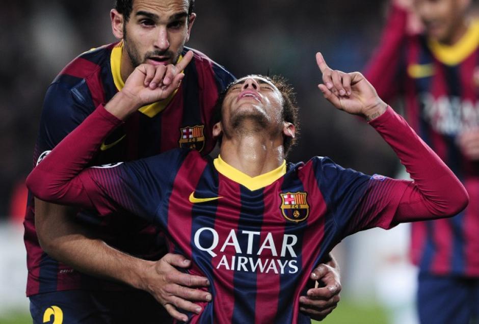 Neymar se convirtió en el jugador clave, al marcar el triplete más rápido en la historia de la Champions, pues lo hizo en 13 minutos. (Foto: Josep Lago/AFP)