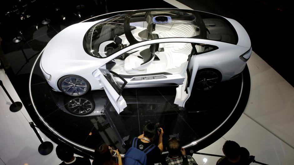 Este modelo es un nuevo concepto eléctrico llamado LeSEE. (Foto: Infobae)