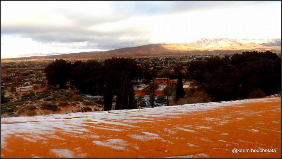 En el lugar no caía nieve desde febrero de 1979. (Foto: Karim Bouchetata)