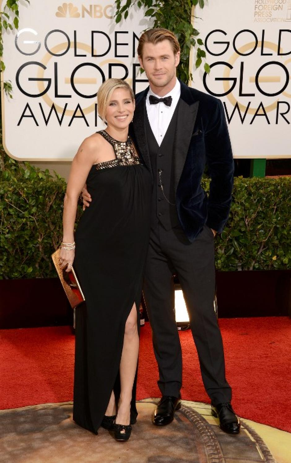 El actor Chris Hemsworth y su esposa Elsa Pataky. (Foto: AFP)