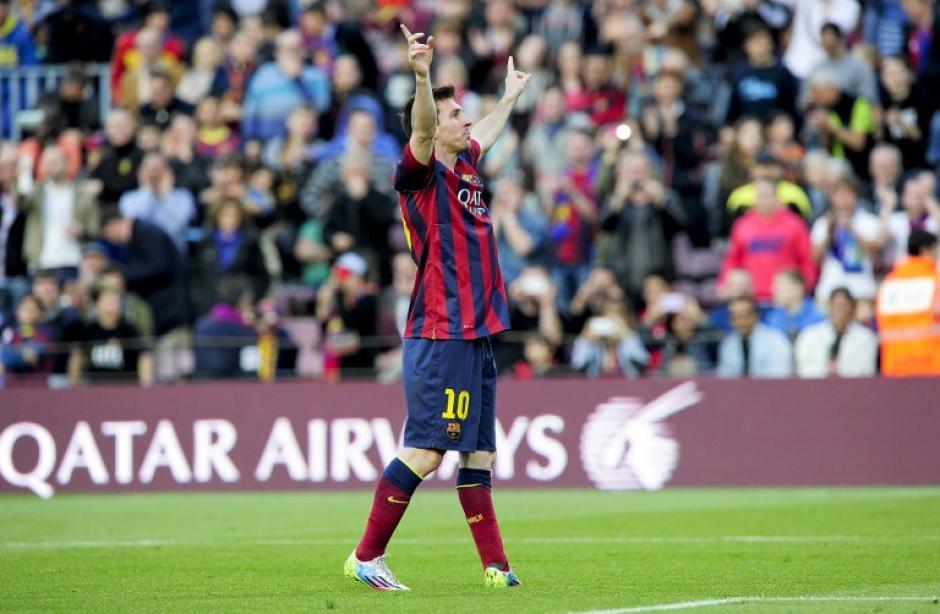 Lionel Messi resurgió por completo cuando el Barcelona más lo necesitaba y anotó un triplete en la victoria ante el Osasuna, consiguiendo el récord de máximo goleador histórico del equipo catalán. (Foto: AFP)