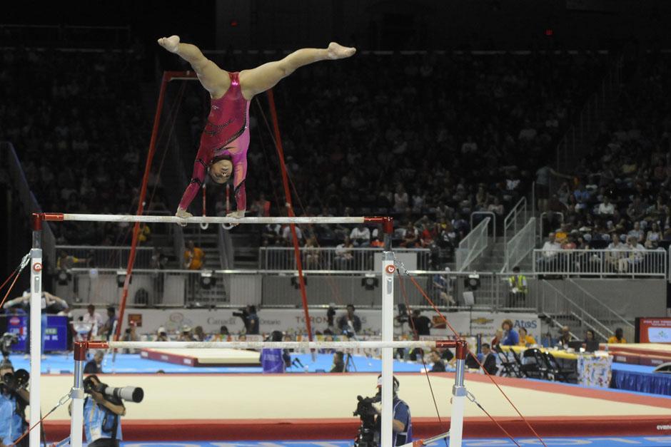 Ana Sofía quedó quinta en la prueba final de barras asimétricas, por lo que no pudo obtener ninguna medalla