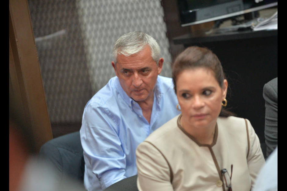 Otto Pérez y Roxana Baldetti se encuentran en prisión preventiva sindicados de actos de corrupción. (Foto: Archivo/Soy502)