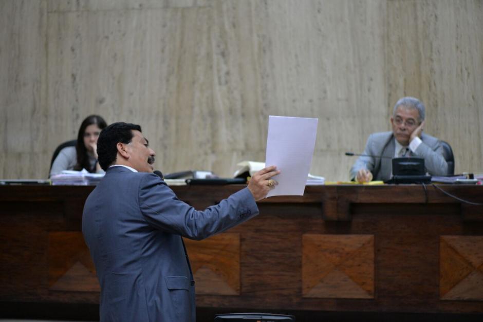 Francisco García Gudiel es el abogado defensor del sindicado Edin Barrientos. (Foto: Wilder López/Soy502)