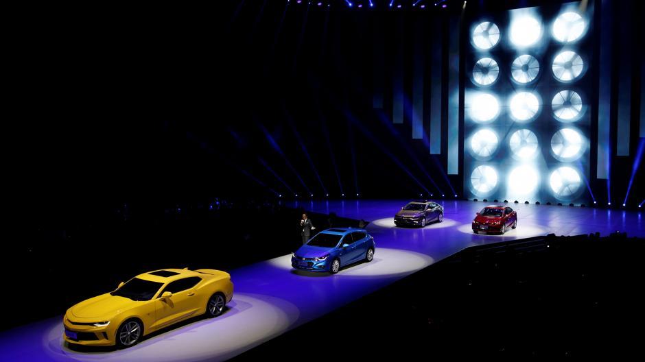 Desfile realizado por la marca Chevrolet. (Foto: Infobae)