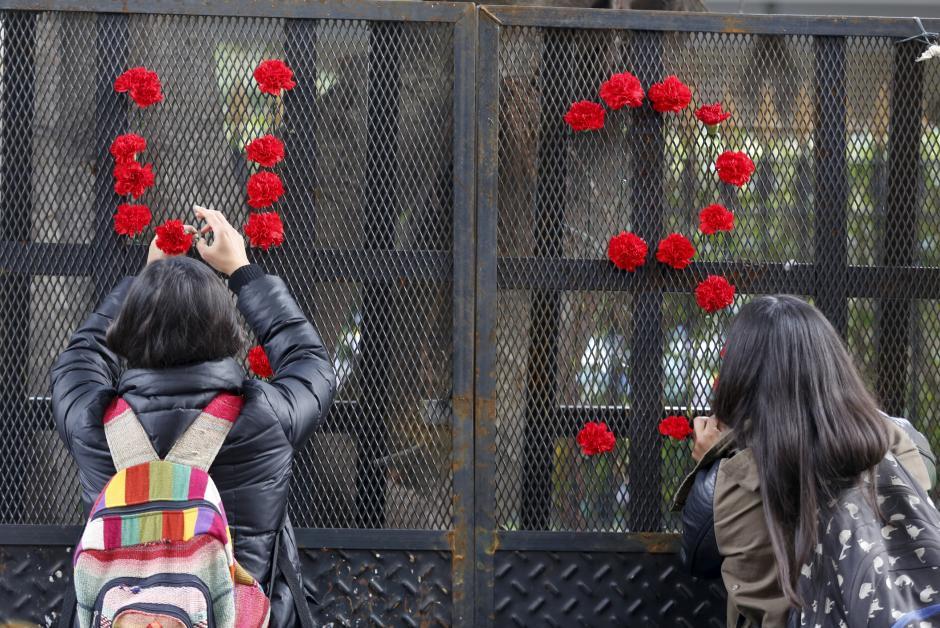 Muestras de apoyo a los familiares de los desaparecidos que exigen justicia. (Foto: Vistazo)
