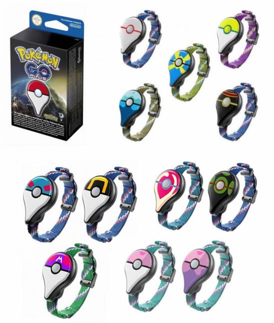 Estos son algunos de los colores del Pokémon Go Plus. (Foto: Twitter)