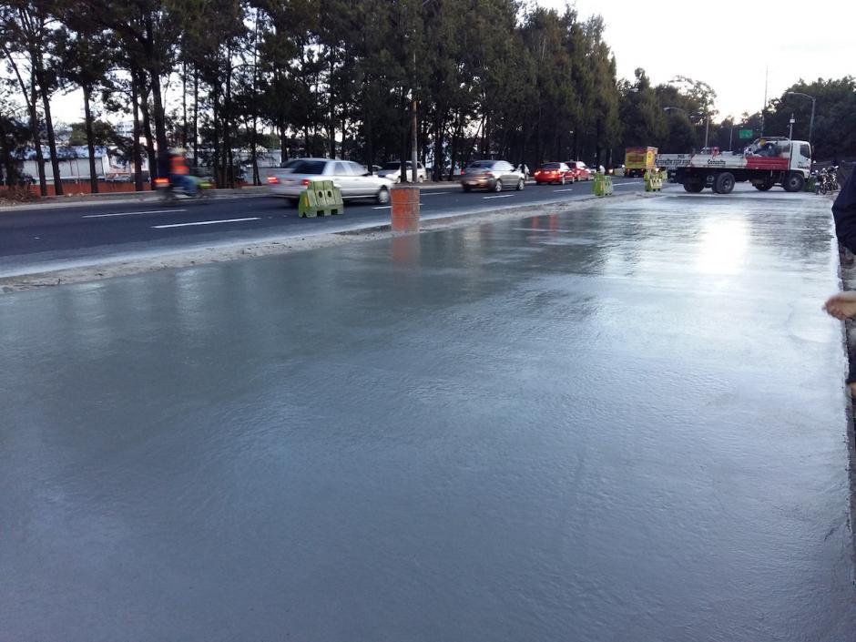 La obra no ha impactado en gran medida en el tráfico. (Foto: Muni Guate)