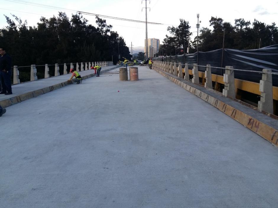 Se espera que antes de navidad esté inaugurada la obra. (Foto: Muni Guate)