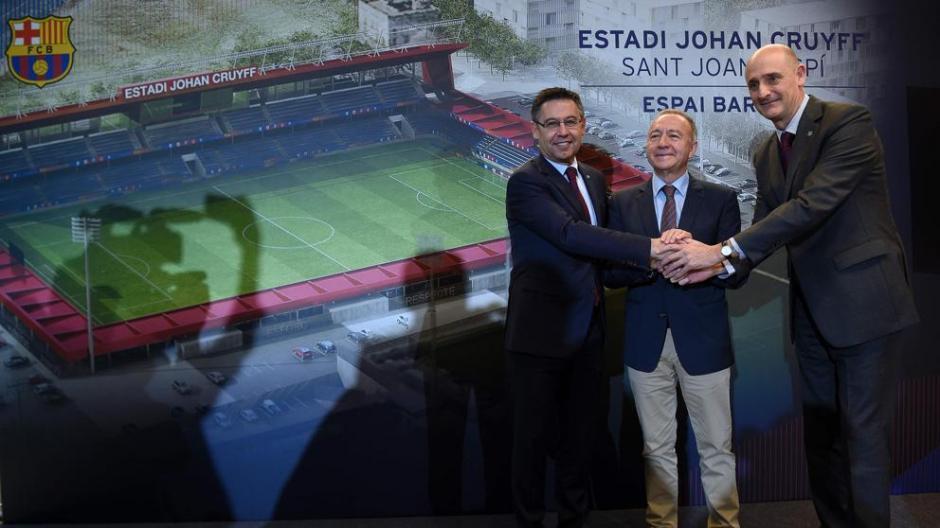 La cúpula de FC Barcelona presentó el proyecto del nuevo estadio Johan Cruyff.  (Foto: FC Barcelona)