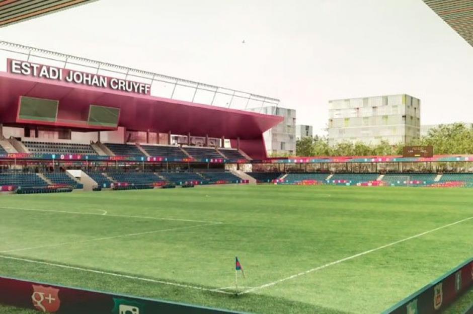En el nuevo estadio Johan Cruyff jugarán y entrenaran las categorías sub 18 masculina y femenina del Barsa.  (Foto: FC Barcelona)
