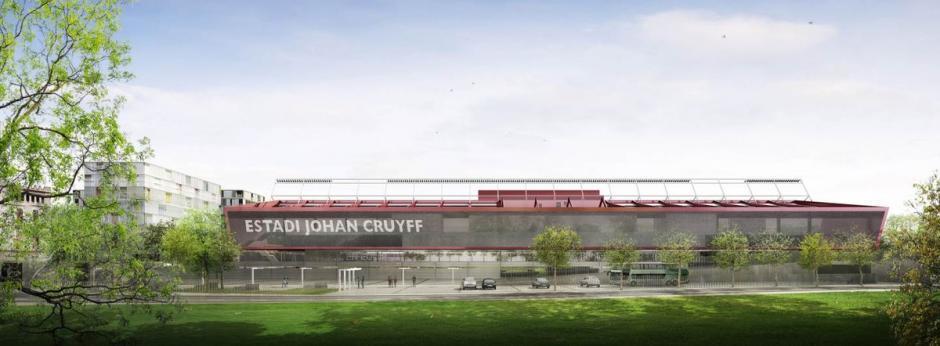 Imponente vista del que será el nuevo estadio Johan Cruyff.  (Foto: FC Barcelona)