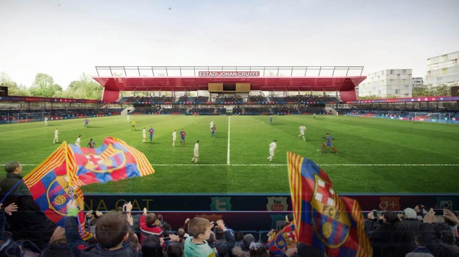 Esta es otra vista del nuevo estadio Johan Cruyff de Barcelona. (Foto: FC Barcelona)