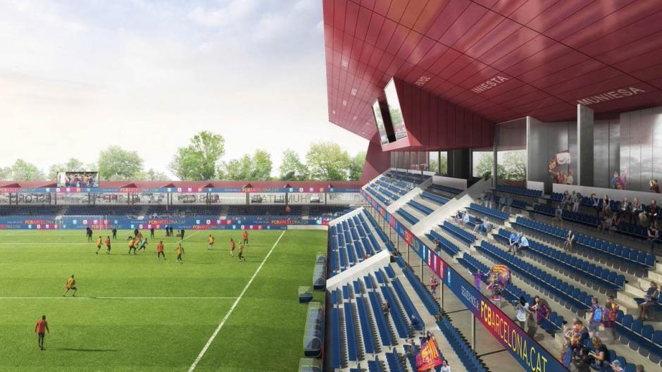 El estadio Johan Cruyff tendrá tribunas dobles y muchas comodidades.  (Foto: FC Barcelona)