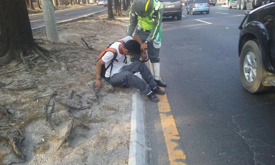 La PMT lo movilizó para evitar un accidente. (Foto: Amilcar Montejo/PMT)