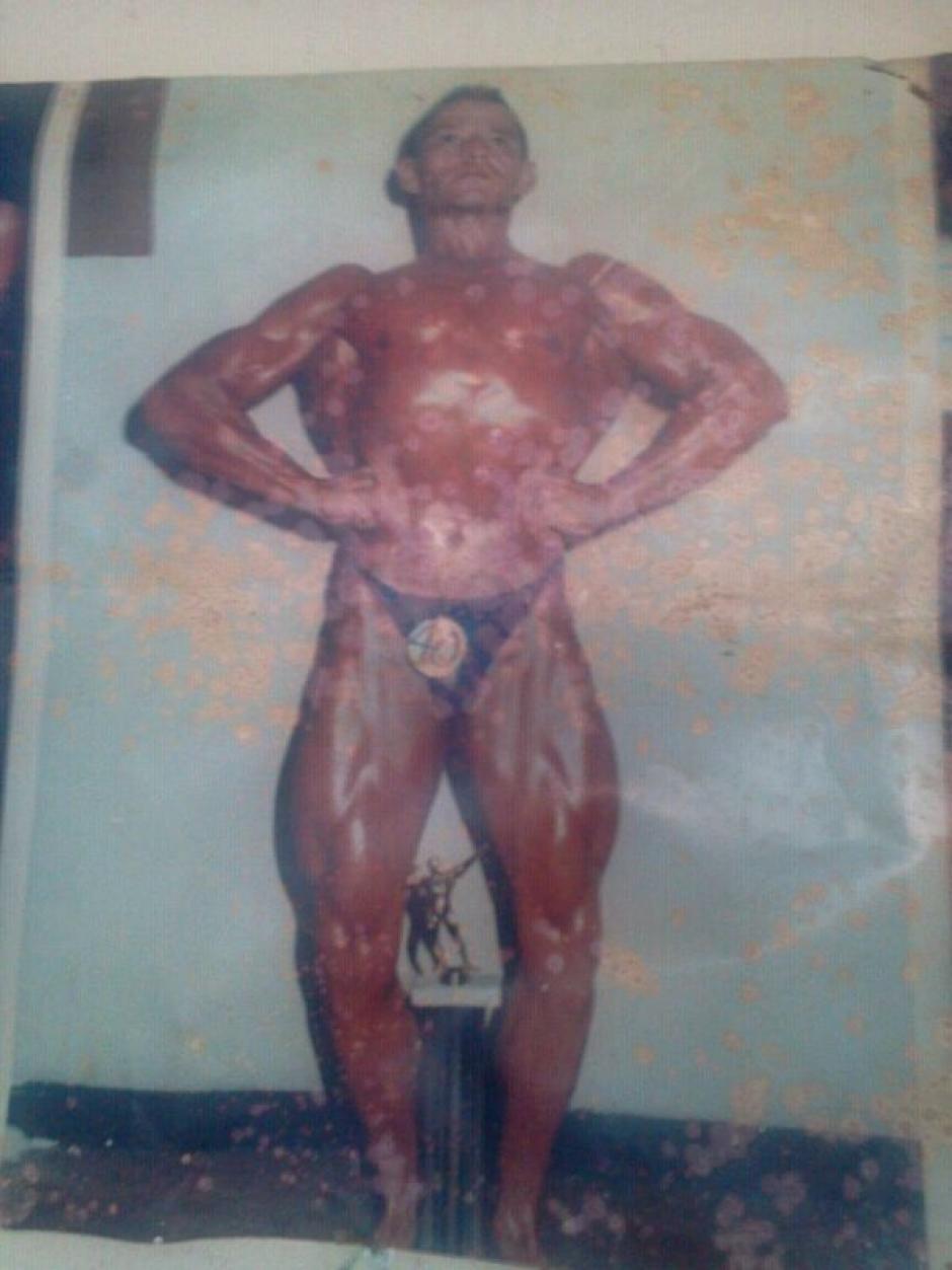 Pedrito Leyenda también fue un exponente del fisiculturismo. (Foto: Pedro Recinos)