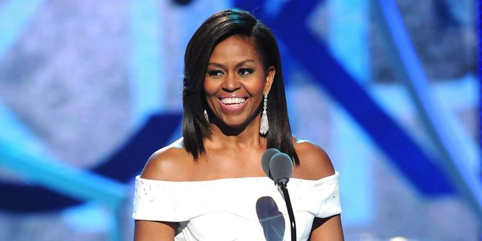 MIchelle Obama luce sin maquillaje. (Foto: BET.com)