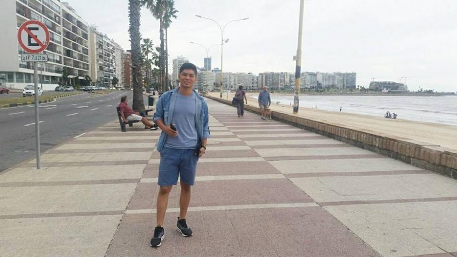 Ortiz está desde hace dos semanas en Uruguay haciendo pruebas con clubes charrúas. (Foto: Daniel Ortiz)