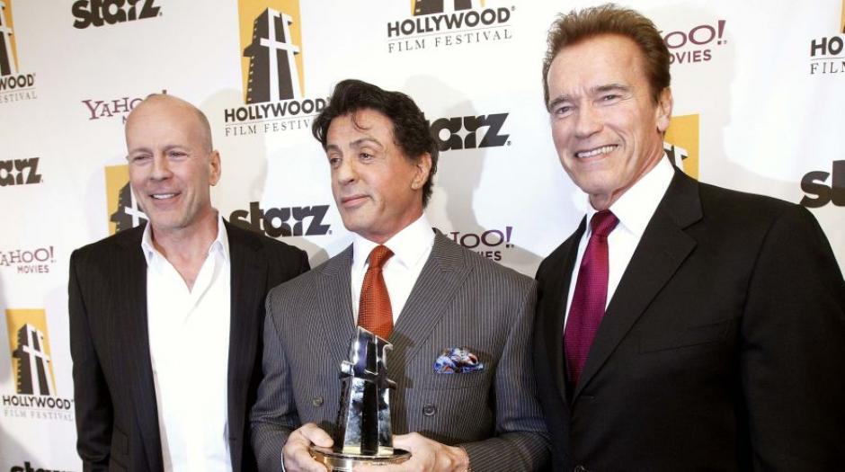 De izquierda a derecha: Bruce Willis, Sylvester Stallone y Arnold Schwarzenegger. (Foto: El Comercio)