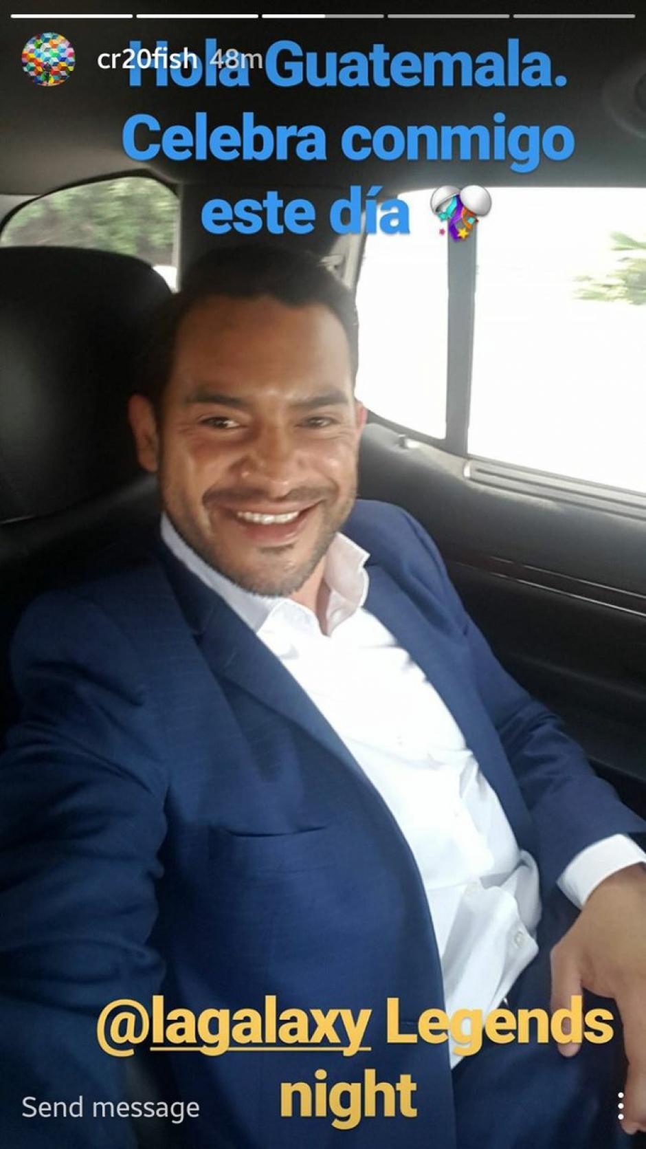 La sonrisa de Ruiz lo dice todo horas antes de recibir el homenaje. (Foto: Carlos Ruiz)