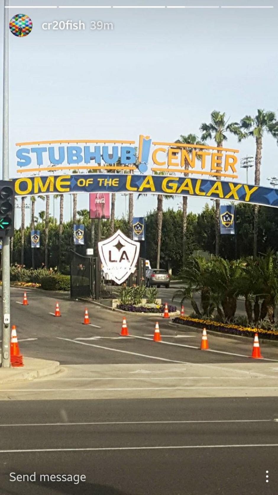 Carlos Ruiz compartió una foto a su llegada al StubHub Center. (Foto: Carlos Ruiz)
