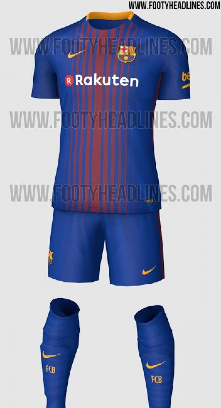 Este será el uniforme del FC Barcelona la próxima temporada. (Foto: Footy Headlines)