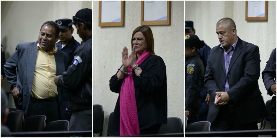Santos Torres, Anahí Keller y Carlos Rodas fueron ligados a proceso. (Foto: Elaboración Propia/Soy502)
