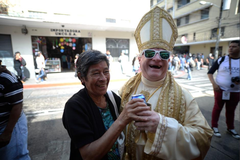 El desfile de la Huelga de Dolores se desarrolló en zona 1. (Foto: Wilder López/Soy502)
