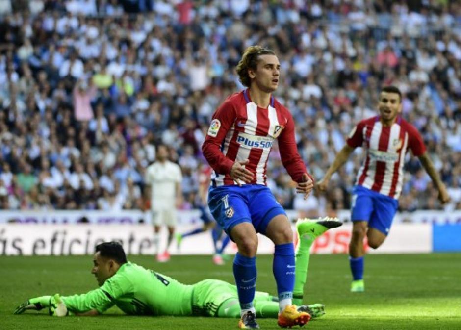 Griezmann marca el gol del empate frente al Real Madrid. (Foto: AFP)