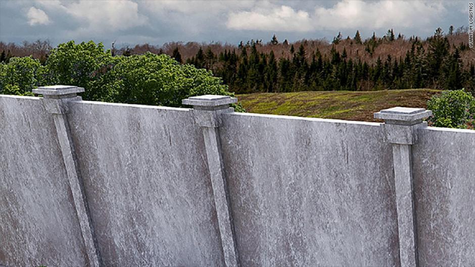 Otra propuesta más simple usaría concreto y acero para construir el muro. (Foto: CNN)