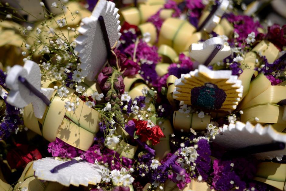 La bendición de los ramos es una tradición de este día. (Foto: Wilder López/Soy502)