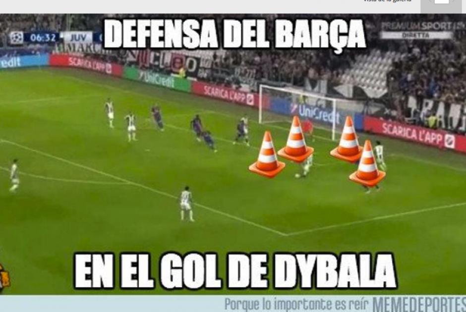 Los goles de la Juventus fueron por una mala defensa catalana. (Foto: MemeDeportes)