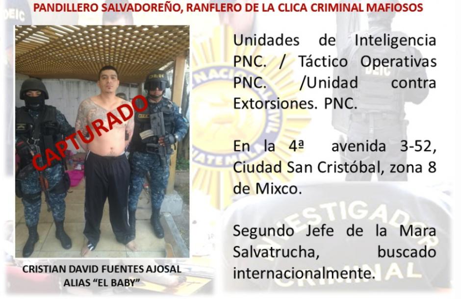 En otro allanamiento se detuvo a Cristian David Fuentes. (Foto: PNC)