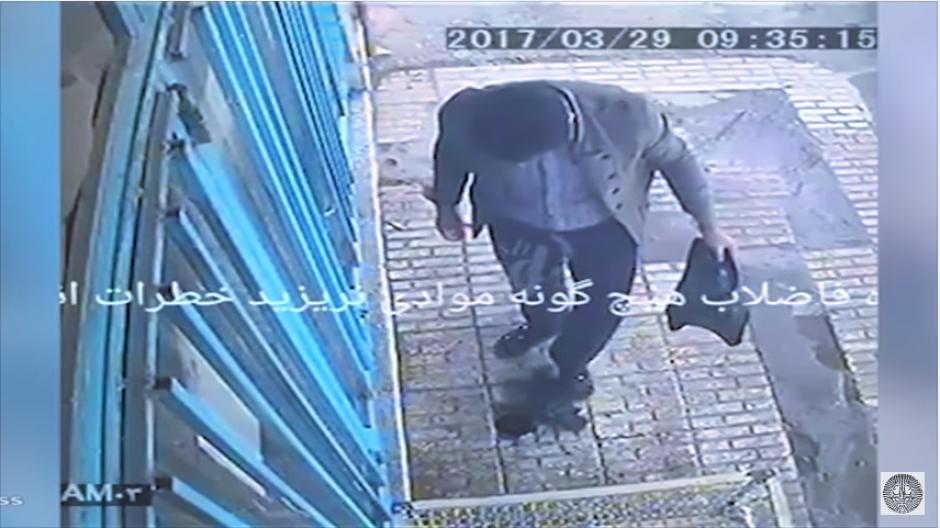 Una cámara de seguridad registró paso a paso el incidente. (Captura Youtube)