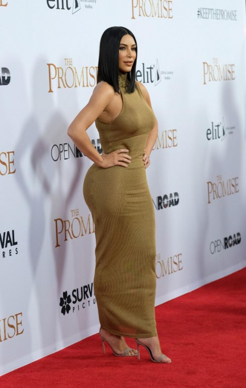 La celebridad tenía un look estilo Cleopatra. (Foto: CHRIS DELMAS/AFP)