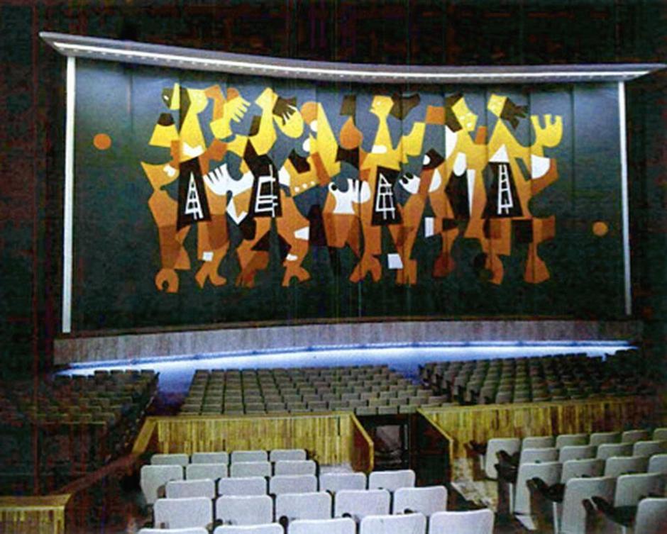Mural de Carlos Mérida que ocupó el cine Manacar en México regresa a su lugar original. (Foto: SkycraperCity)