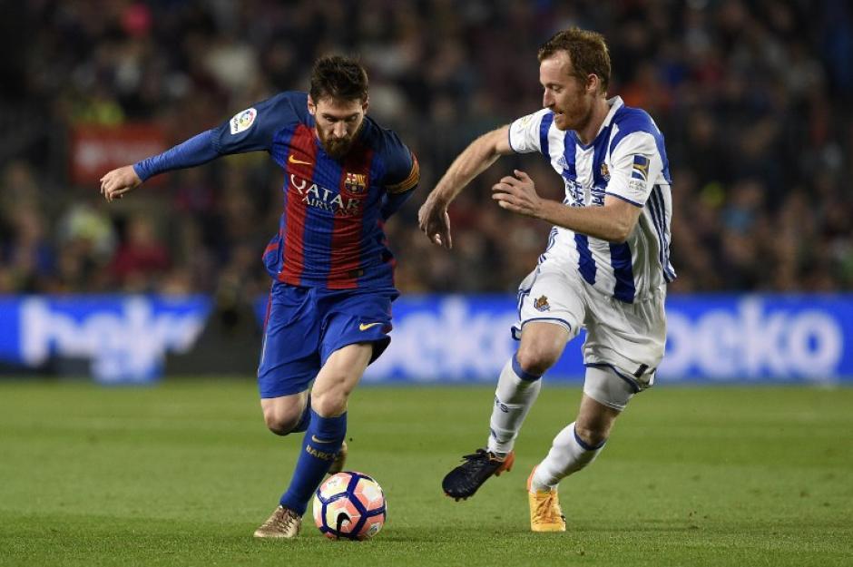 El cuadro visitante estuvo cerca de alejar al Barcelona más del Real Madrid. (Foto: AFP)