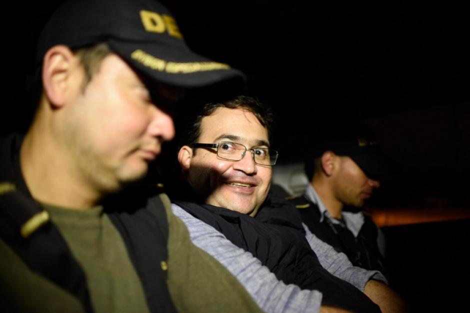 Javier Duarte fue trasladado hacia la cárcel de Matamoros desde Sololá. (Foto: AFP)