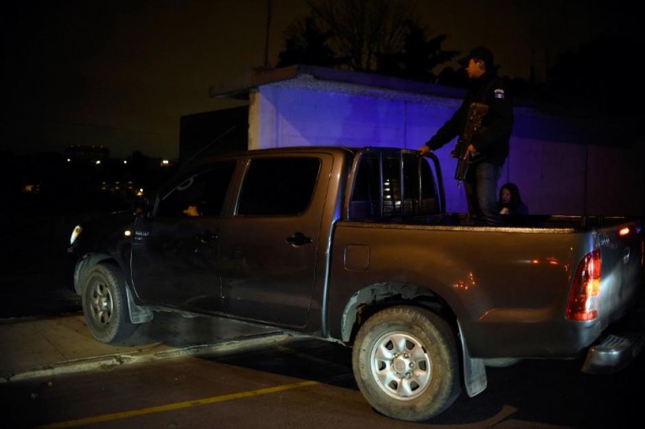 El exgobernador fue llevado en horas de la madrugada hacia la capital guatemalteca. (Foto: AFP)