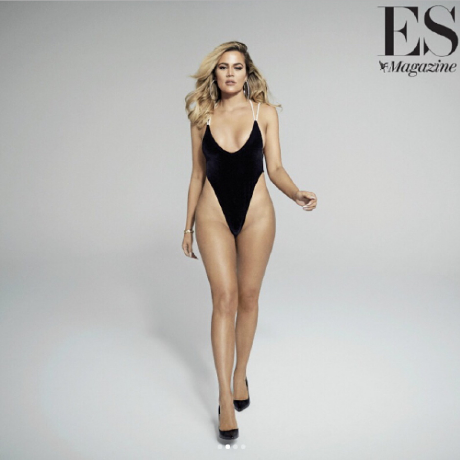 Así luce Khloé Kardashian. (Foto: Evening Standard Magazine)