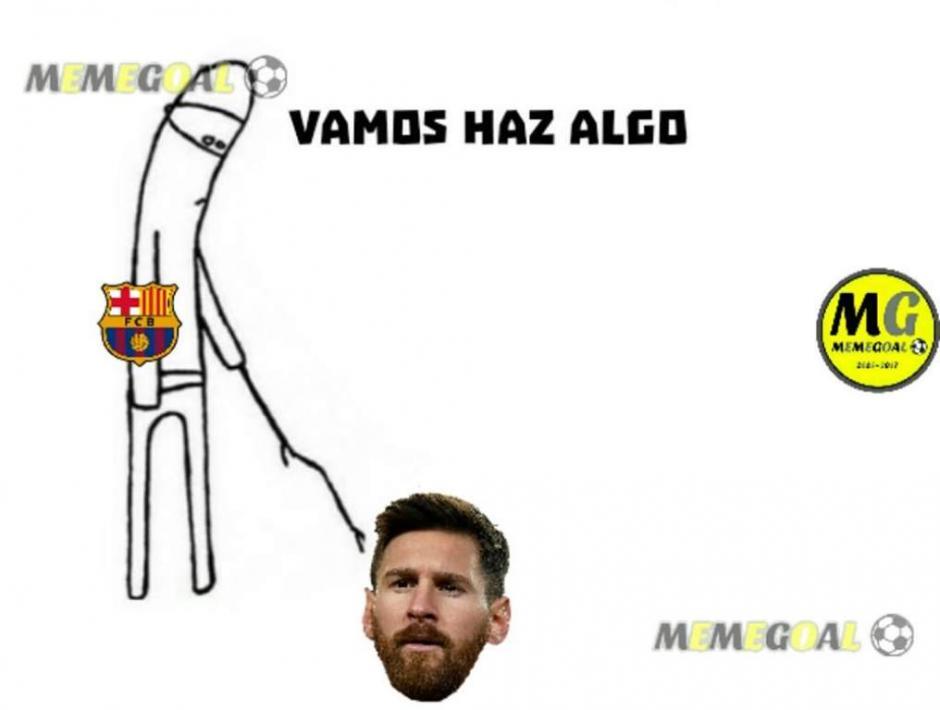 Y Messi no apareció. (Foto: Twitter)