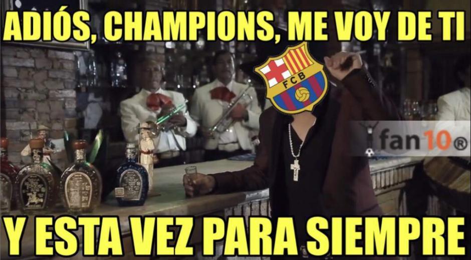 Así fue la despedida Barcelona. (Foto: Twitter)