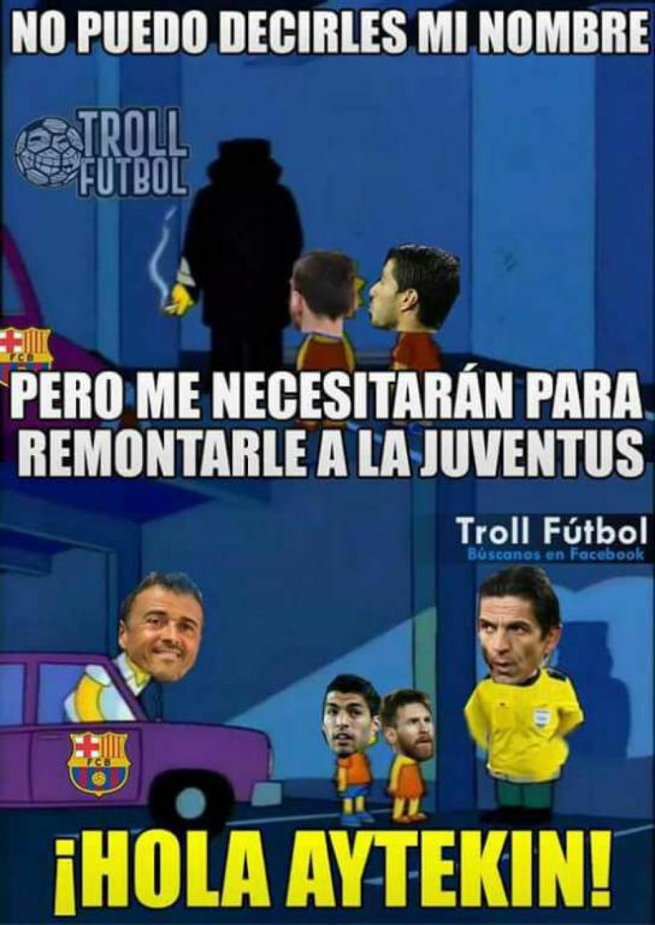 El Barcelona extrañó a este árbitro dicen los memes. (Foto: Twitter)