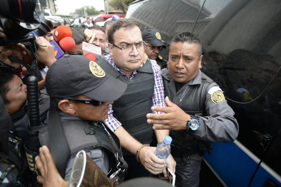 Javier Duarte fue movilizado bajo resguardo de un fuerte dispositivo de seguridad. (Foto: Wilder López/Soy502)