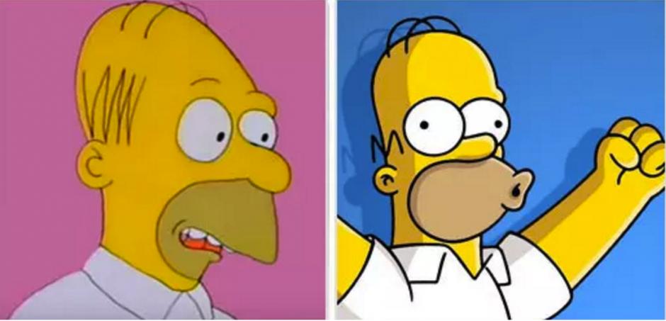 Homero Simpson si luciría totalmente diferente. (Foto: buzzfeed.com)