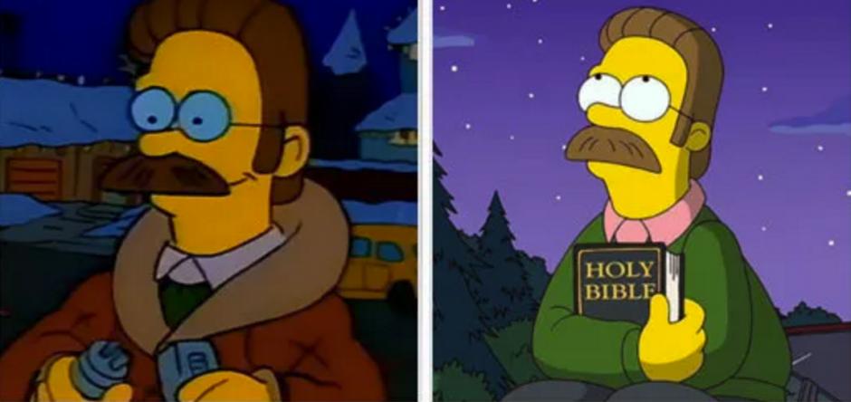 Y el religioso Ned quien no ha cambiado mucho. (Foto: buzzfeed.com)