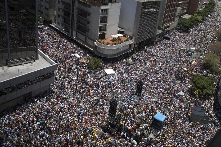 Las manifestaciones han sido convocadas por la oposición al gobierno de Nicolás Maduro, presidente venezolano. (Foto: AFP)